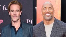 James Van Der Beek gets thumbs-up from the Rock for sharing skin-to-skin photo with newborn daughter
