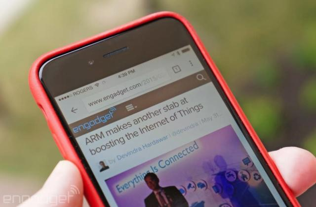 Chrome for iOS talks to smart devices through the web