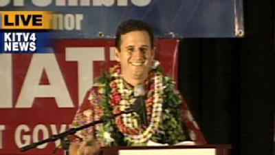 Schatz Gives Victory Speech After 2nd Printout