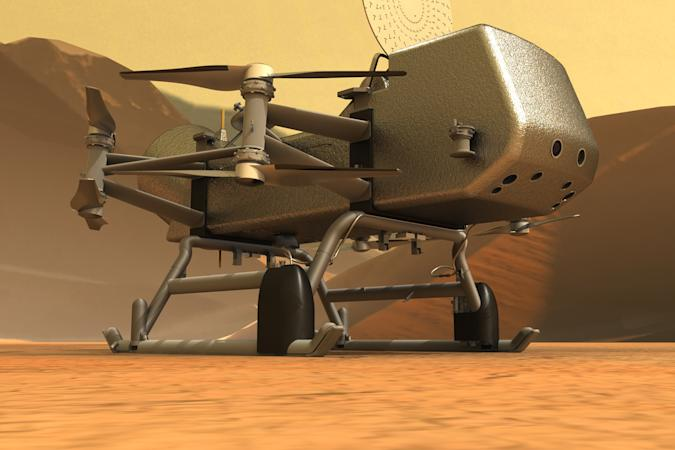 NASA Dragonfly Titan drone
