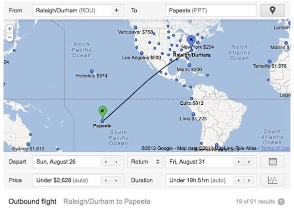Google's Flight Search engine adds 500 international destinations, more on the way