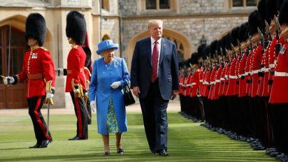 Trump kommt in den Buckingham Palast