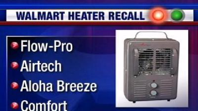 Wal-Mart Heaters Recalled