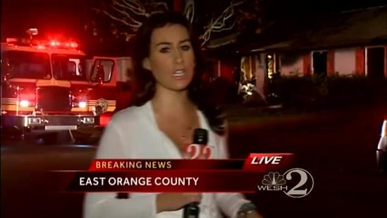 1 hurt during fire in Orange Co.