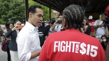 Julian Castro joins McDonald's strikers in North Carolina