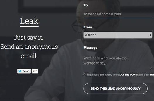 Anonymous email app Leak is down due to overnight success