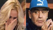 El llanto de Verónica Ojeda por Diego Maradona: él la demandará y pidió un 'bozal legal'