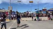 Timelapse Shows Stream of Protesters at Kenosha March Led by Blake Family
