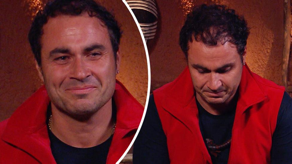 TV chef Miguel Maestre breaks down on I'm A Celeb