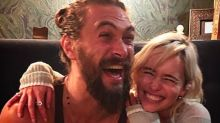 Emilia Clarke Reunites With 'Game of Thrones' Husband and 'Main Man' Jason Momoa