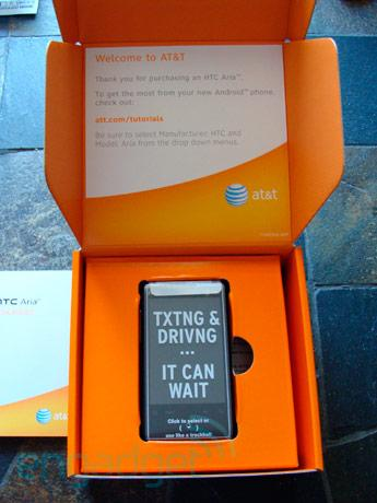 HTC Aria slipping out early into AT&T stores