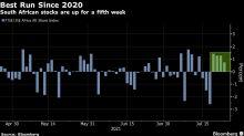 S. African Stocks in Fifth Weekly Gain; Telkom Slips on CEO Exit