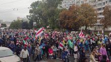 Cientos de detenidos en una nueva manifestación de la oposición en Bielorrusia
