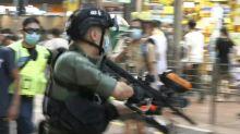 Hong Kong police fire pepper balls amid postponed poll protests
