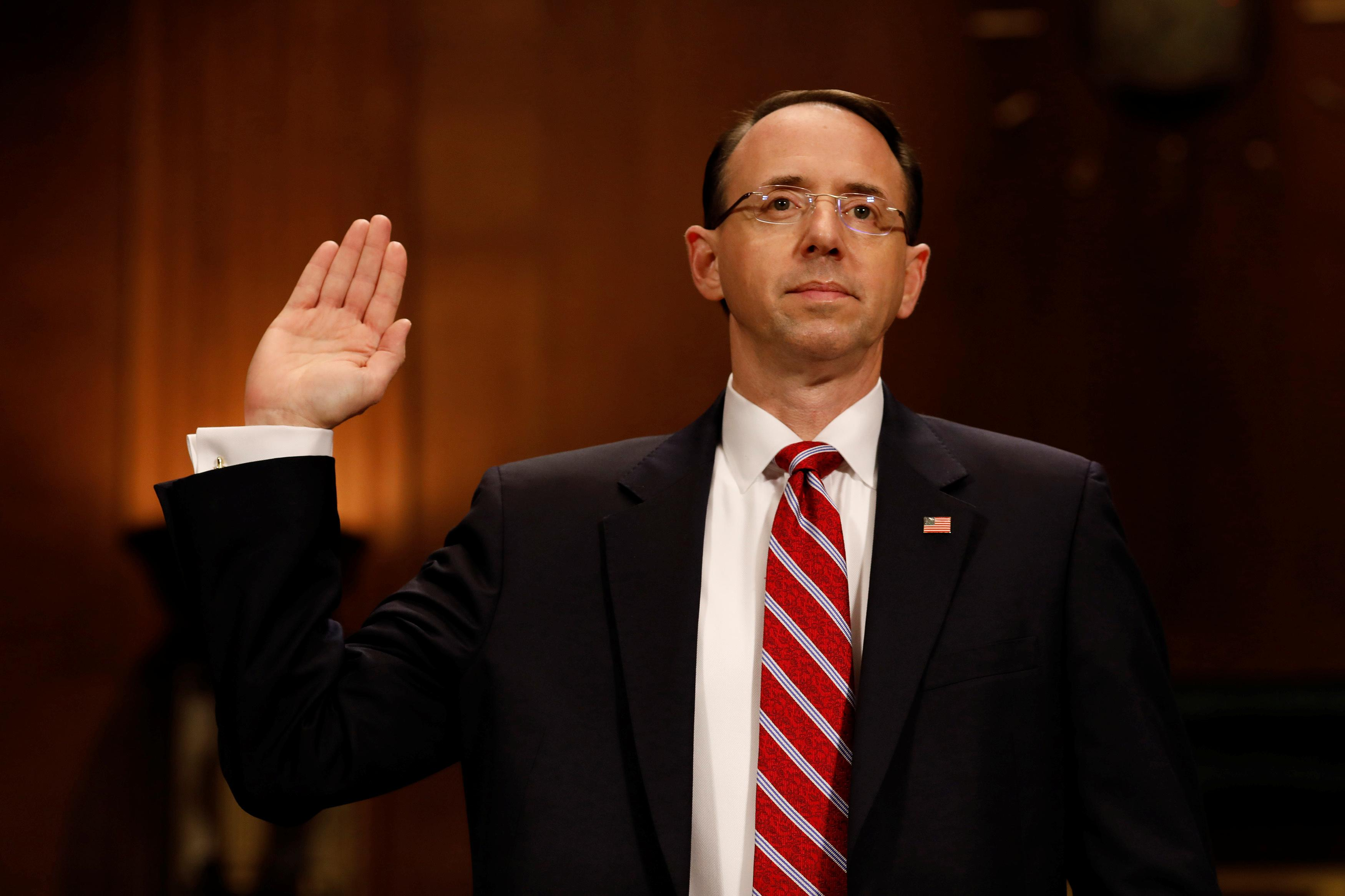 Rod Jay Rosenstein ˈ r oʊ z ən ˌ s t aɪ n born January 13 1965 is an American attorney serving as United States Deputy Attorney General since 2017