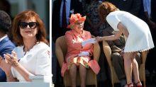 Protokoll gebrochen: Susan Sarandon schüttelt Queen Elizabeth II. die Hand – so geht es vor der Königin richtig