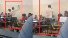 Caught on camera: Teacher thrashes student in Bengaluru's Basaveshwara College