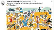 Reto viral: encuentra los 39 grupos españoles escondidos en esta imagen