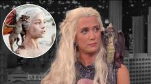 Kristen Wiig Is Khaleesi, Takes Her Late Night Appearances Really Seriously