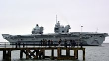 Royal Navy aircraft carrier sets out on journey to Liverpool