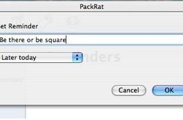 PackRat author solicits software feature requests