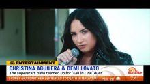 Christina Aguilera and Demi Lovato team up