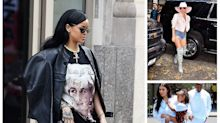 Rihanna's thigh-high denim boots are a hot spring trend