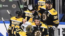 Bergeron, Bruins beat Hurricanes 2-1 to advance in playoffs