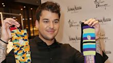 Kris Jenner saves Rob Kardashian's failing sock line
