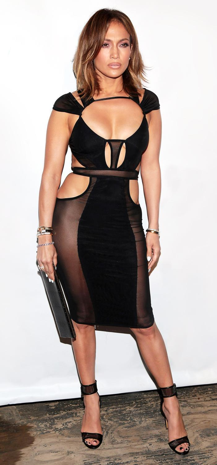 This Is 46. Jennifer Lopez Wows In a Sheer Cutout Dress ...