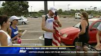 Local runners finish long and patriotic journey