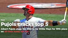 Albert Pujols ties Willie Mays for fifth place on all-time home run list