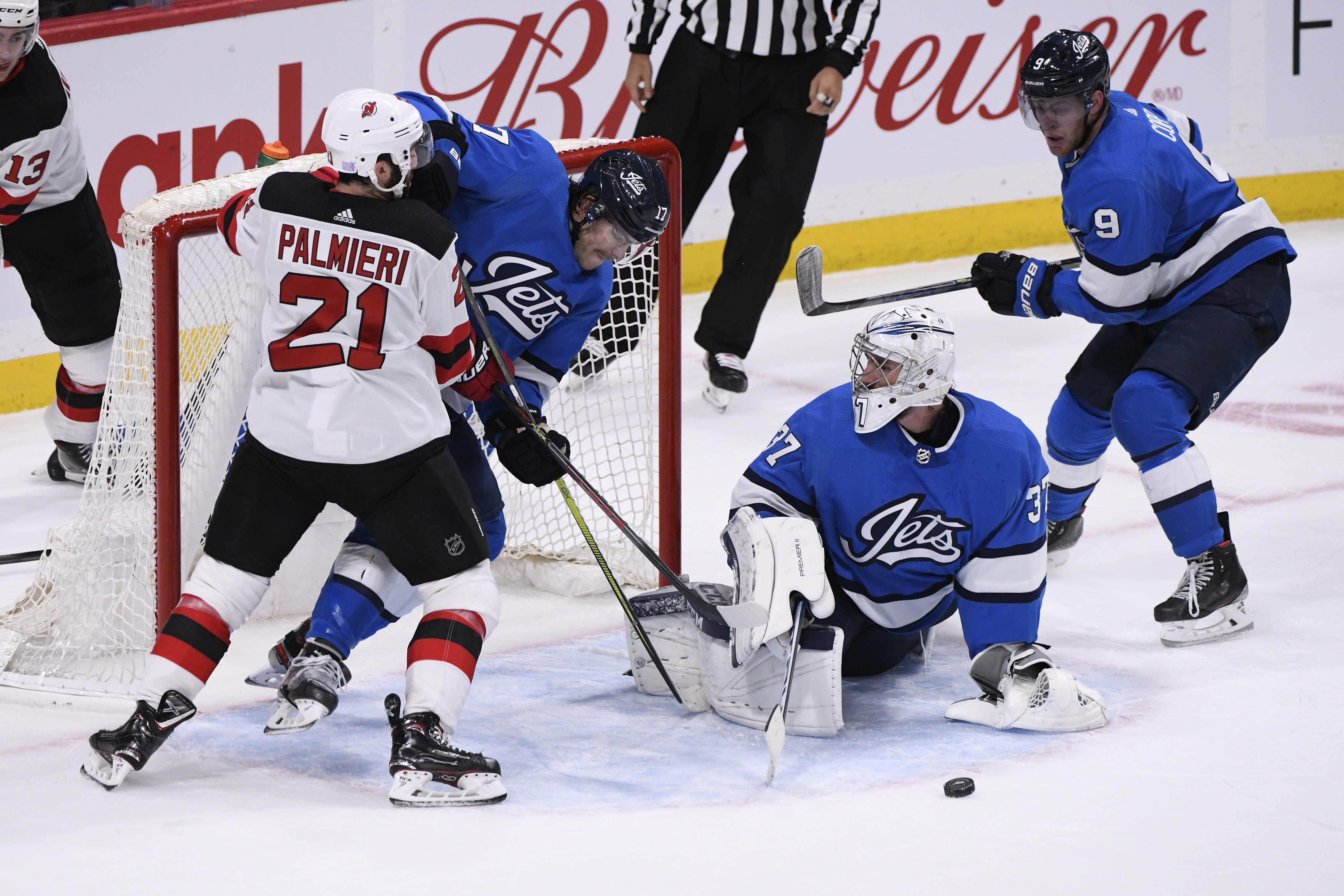 Gusev, Boqvist help Devils top Jets in shootout - Yahoo Sports
