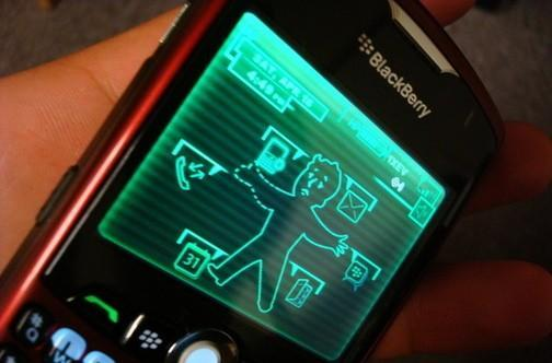 BlackBerry Pip-Boy theme: a post-apocalyptic nightmare world in the palm of your hand