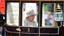 The picture that depicts the Queen's loneliness