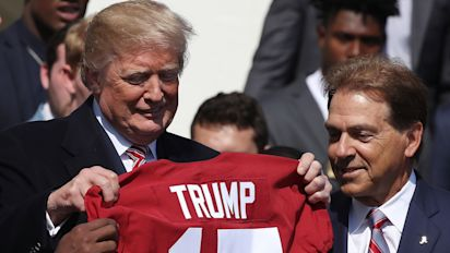 Trump throws political flag at college football
