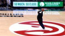 Atlanta Hawks fan who won $10K for half-court shot has the best reaction