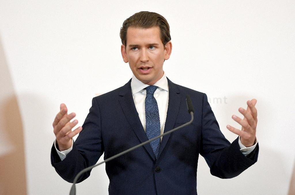 Kurz said he had been personally insulted in the recordings (AFP Photo/ROLAND SCHLAGER)