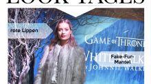 Look des Tages: Laura Whitmore im Fake-Fur-Mantel