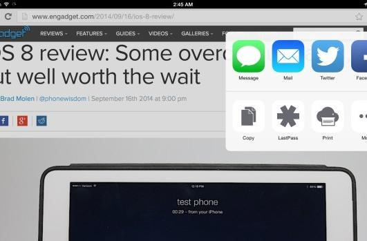 Google Chrome plugs into iOS 8 app extensions