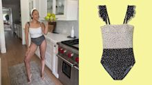 'These are what my days have been looking like':Tia Mowry stuns in a $95 polka-dot swimsuit from celeb-favourite brand