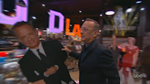 Tom Hanks hilariously vandalizes Matt Damon's face while shoplifting