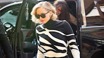 Jennifer Lawrence Takes Over NYC With Her Black and White Ensembles