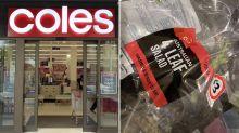 Woman spots 'unpleasant' addition in Coles salad mix