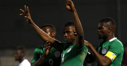 Foot - NGA - Vidéo : le coup franc de Kelechi Iheanacho (Nigeria) contre l'Argentine