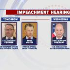 Capitol Hill gears up for 2nd week of impeachment hearings