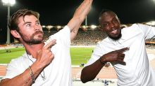 Starstruck Chris Hemsworth meets Usain Bolt