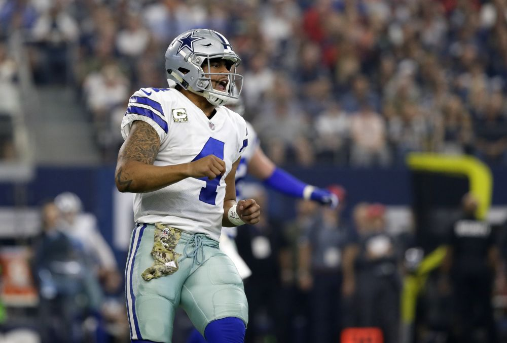 Dak Prescott and the Cowboys need a win against the Eagles this week. (AP)