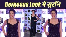 Surbhi Chandna looks gorgeous in black embellished jumpsuit at Lions Gold Awards 2019