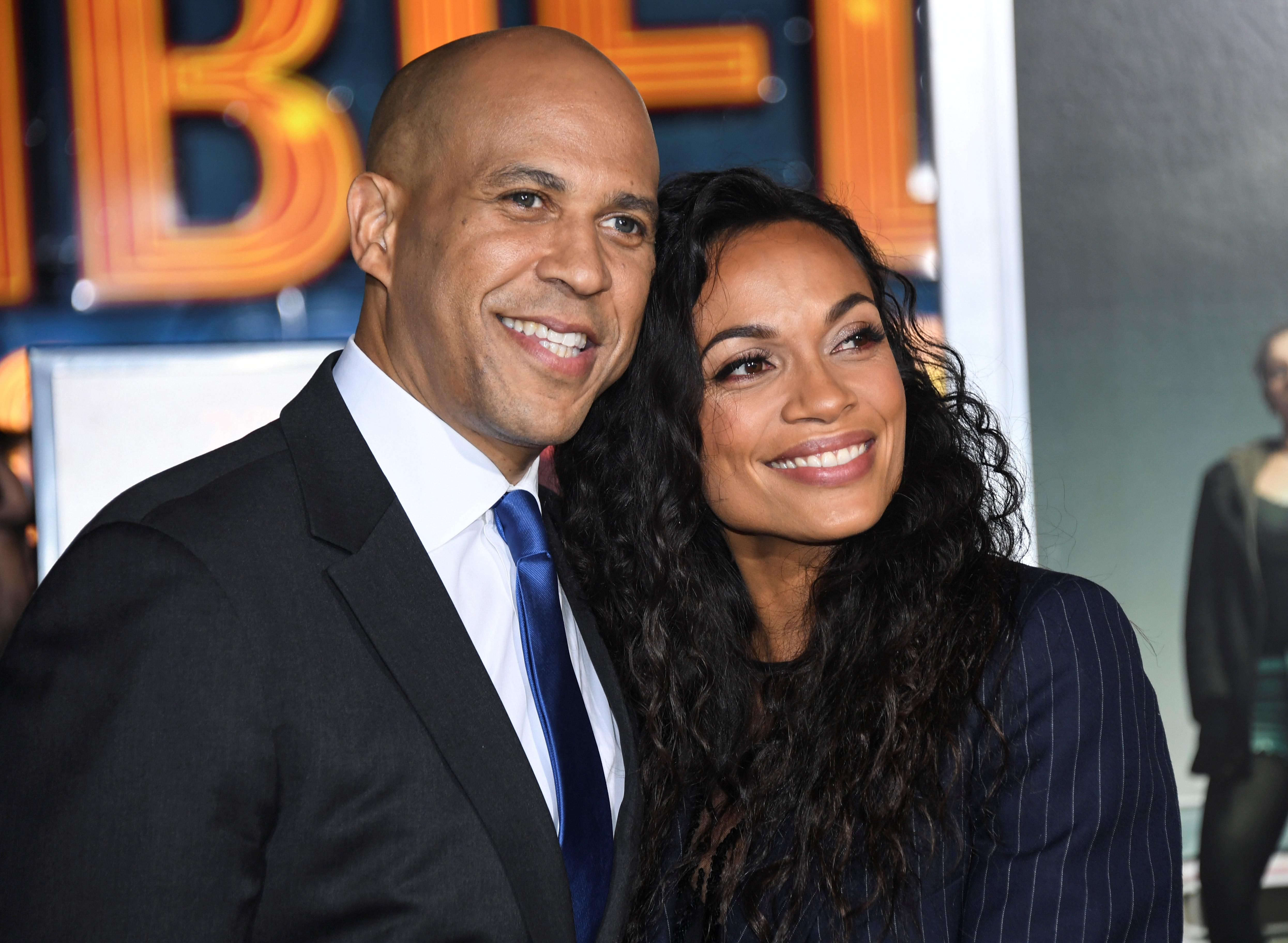 Rosario Dawson says she's 'in love' with Cory Booker — even though he's not 'super-smooth'